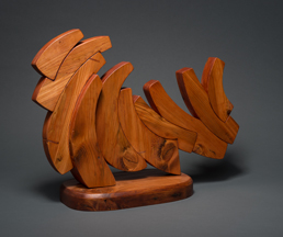 "Line Dance, ©2019, 18"" x 24"" x 8.5"", reclaimed pine"